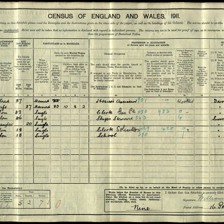 Census 1911 Pelham Road