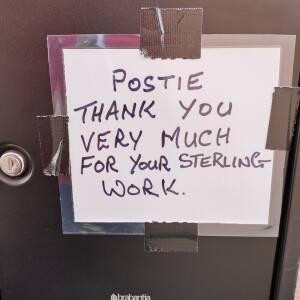 Thank you postie