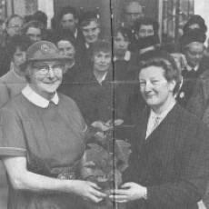 Nurse Daisy Cox, retirement in January 1969