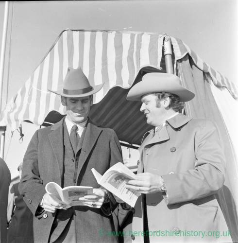 Awaiting the annual bull show and sale at Hereford Cattle Market Jan 1972