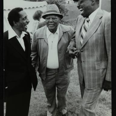 Milt Jackson, Budd Johnson and Major Holley (left to right)