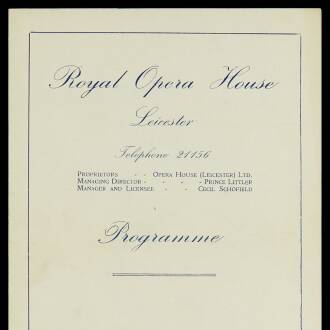 Royal Opera House, Leicester, March 1951