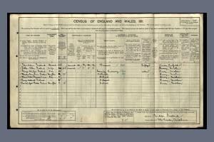 1911 Census - 1 The Parade, Mitcham