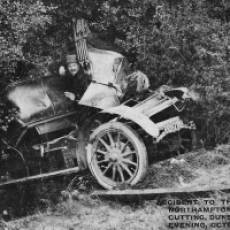 1908 Accident Involving Lord Northampton's Car in the Chalk Cutting