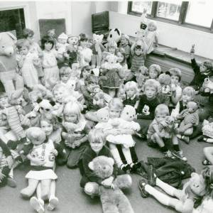 Teddy Bears, Ledbury Library, c1980