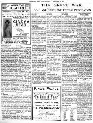 28 NOVEMBER 1914