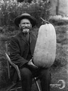 Thomas Tom Francis Snr, pictured with a prize marrow