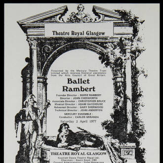 Theatre Royal, Glasgow, March–April 1977