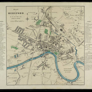 Plan of Hereford (1900) by E G Davies.jpg