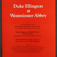 Duke Ellington Orchestra 'Sacred Concert' – Westminster Abbey 24th October 1973