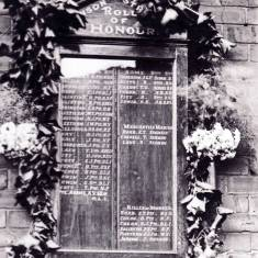 World War 1 Roll of Honour