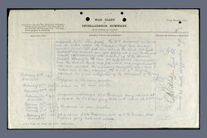 War Diary for South Staffordshire Regiment on 20 February 1915 , 2nd Page - William Sorrell