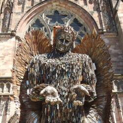 Knife Angel, Hereford Cathedral, Hereford, June 14 – July 12 2021