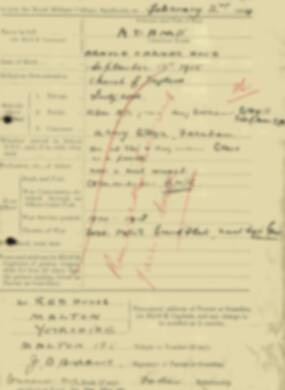RMC Form 18A Personal Detail Sheets Aug 1934 Intake - page 1