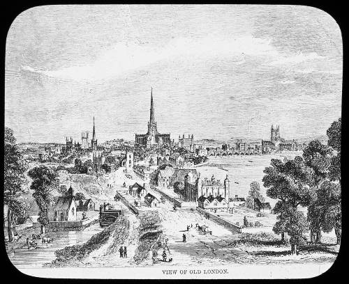 View of old London at Charing Cross