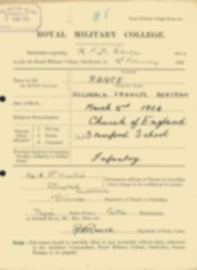 RMC Form 18A Personal Detail Sheets Feb & Sept 1922 Intake - page 117