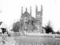 Mitcham Parish Church and the adjoining cottage