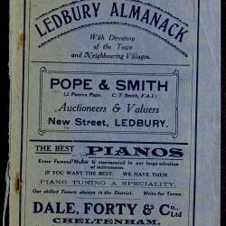 Tilley's Ledbury Almanack 1921