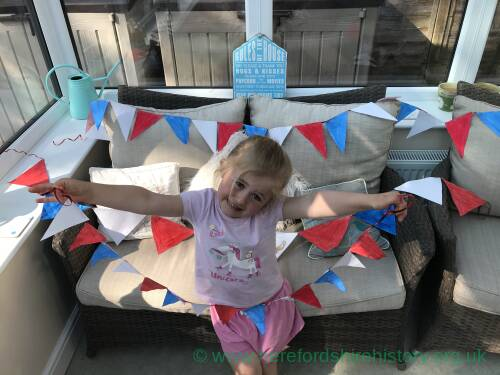 Home made bunting for VE Day