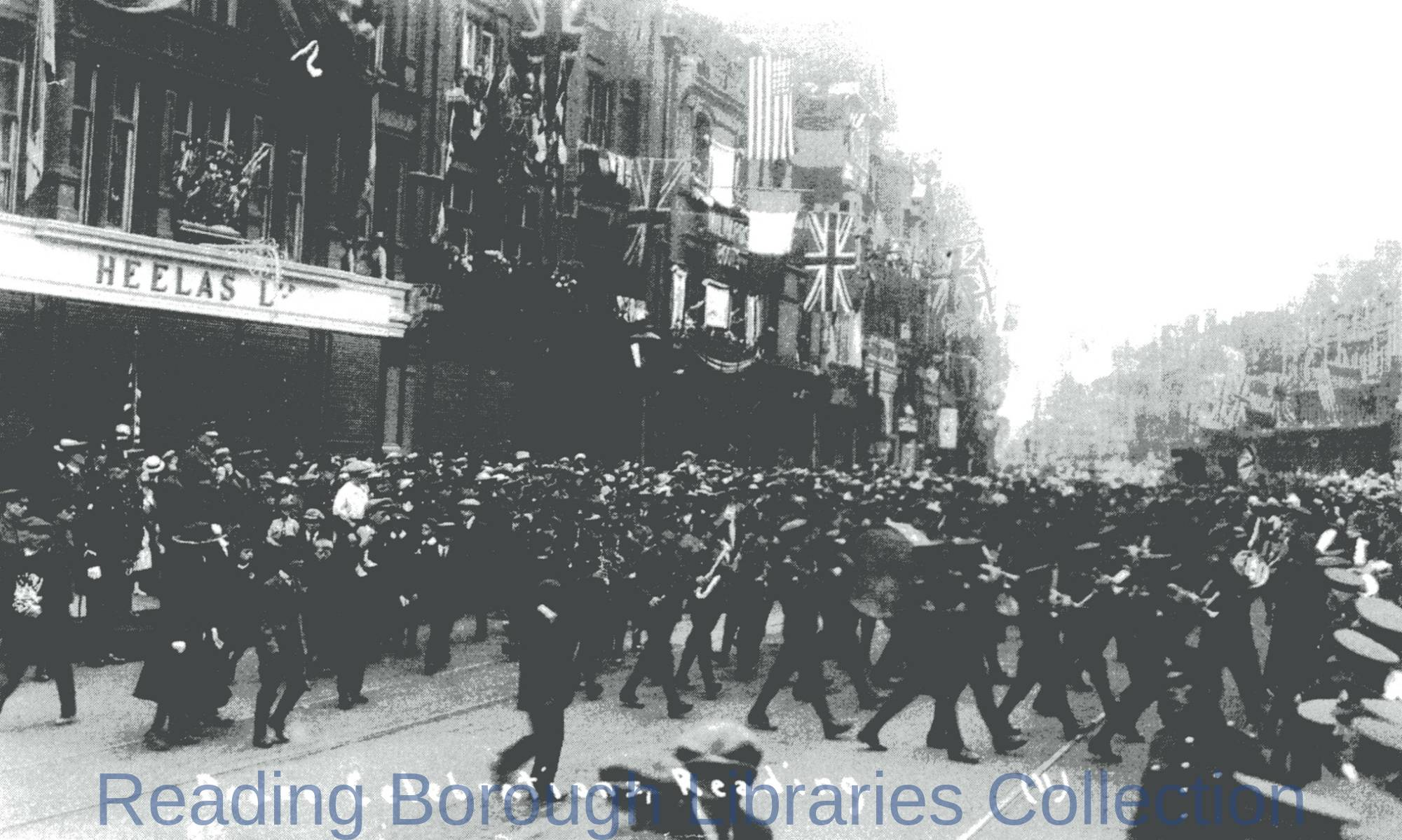 The Peace Celebrations in Broad Street, Reading, 1919