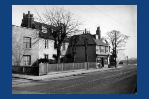 Upper Green East: John Chart's Old Shop (looking towards Three Kings Road)
