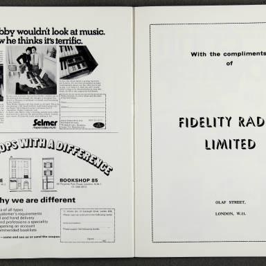 Duke Ellington Orchestra 'Sacred Concert' – Westminster  Abbey 24th   October 1973 016