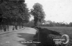 Sutton Road, Mitcham: Now Bishopsford Road, near the watermeads
