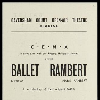 Caversham Court Open Air Theatre, Reading, July 1943