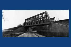 Lattice Girder Bridge over London to Worthing Road