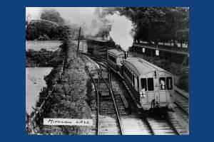 Steam train near Mitcham Station