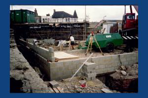 Building work in progress, Southfields Methodist Church