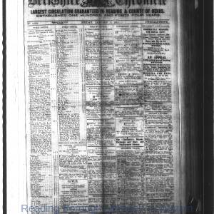 Berkshire Chronicle Reading 1915