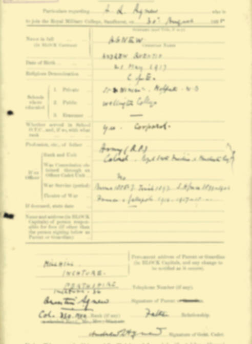 RMC Form 18A Personal Detail Sheets Aug 1935 Intake - page 2