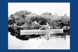 Canoe on Seven Islands Pond, Mitcham Common