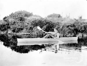 Canoe on Seven Islands Pond, Mitcham Common