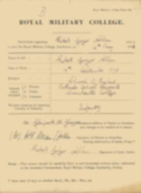 RMC Form 18A Personal Detail Sheets May 1915 Intake - page 3