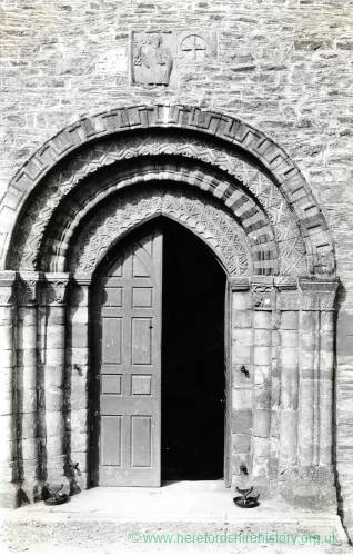 Bromyard Church, south door