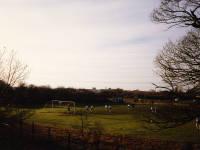 Football practice, Beddington end of Mitcham Common