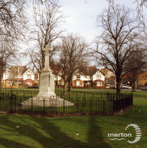 Mitcham War Memorial, Lower Green West