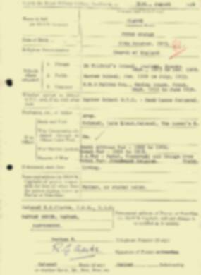 RMC Form 18A Personal Detail Sheets Aug 1934 Intake - page 35