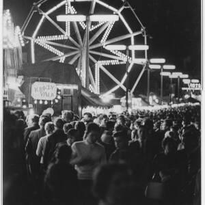 108 - Fairground scene at night