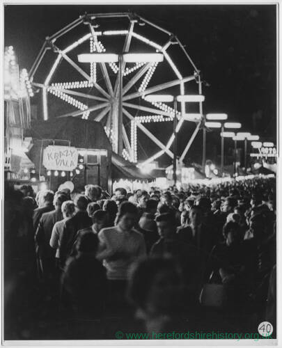 108 - Fairground scene at night