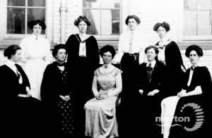 Wimbledon County School for Girls: Miss Batho and Staff