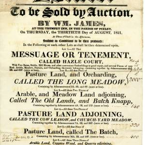 Trumpet Inn - Pixley - Auction of Dwelling, Various Farmland & Quarry - 30th of August 1821.jpg