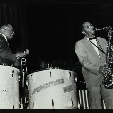 Lionel Hampton and Eddie Chamblee (left to right)