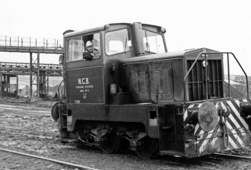 115 Shunting engine, Skelmanthorpe sidings, 1983