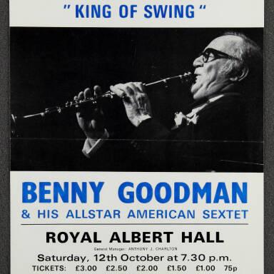 Benny Goodman, Royal Albert Hall