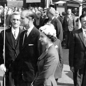 The Queen and the Duke of Edinburgh arrive at the Edgar Street football ground on their visit to Hereford