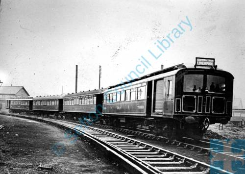Southport train on route to Liverpool