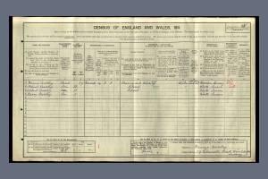 1911 Census - 59 Palmerston Road, Wimbledon